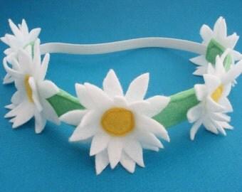 Daisy Chain Headband - Daisy Crown - Flower Crown - Floral Headband - Boho