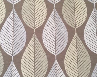 Loose Leaf in khaki home decor fabric - one yard