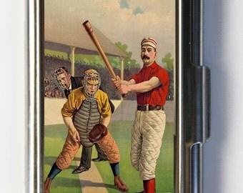 Baseball Batter Game Business Card Holder Card Case