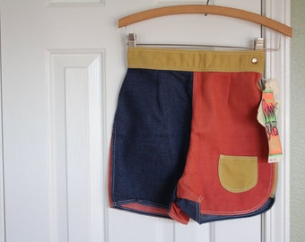 VINTAGE thermo-jac Skinny Bones high waisted shorts USA size 9
