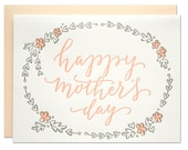 Mother's Day Wreath Letterpress Card
