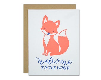 Baby Fox Letterpress Card