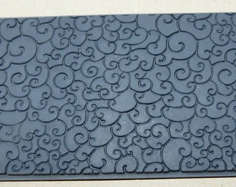 SEA FOAM Embossed Rubber Texture Tile Mat Stamp for Clay inks  Paint Soap   TTL351