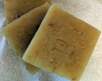 4 oz Shea & Cocoa Bar Soap, Yuzu with Calendula