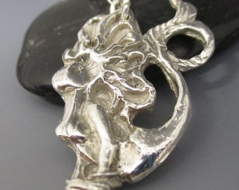 Fine Silver Mermaid Sterling Silver Necklace