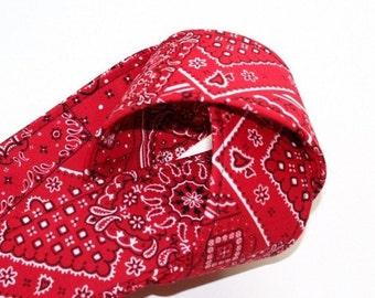 Camera Strap - Red Bandana - SLR, DSLR