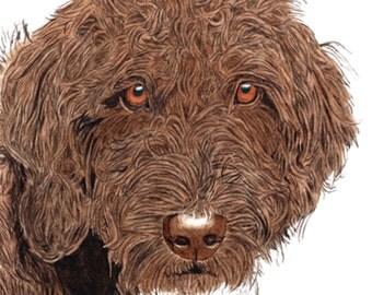 Pet Portrait 18 x 24 watercolor