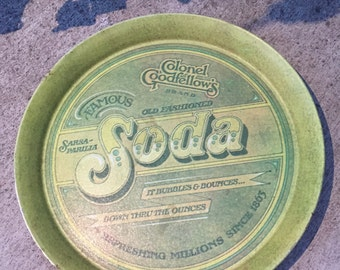 Vintage 1979 Pentron Colonel Goodfellow's Soda Round Serving Tray