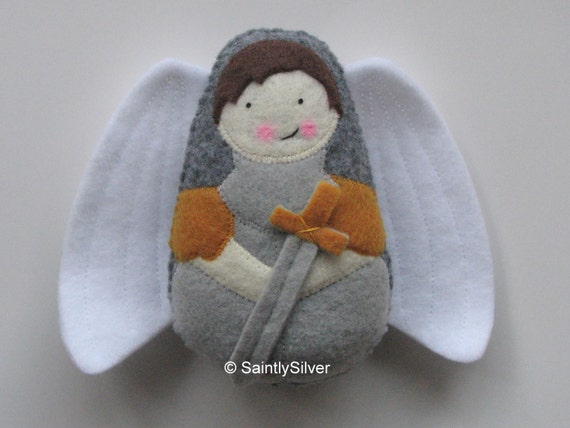 Saint Michael the Archangel....Felt Softie