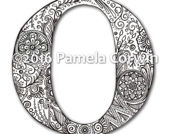 O Monogram Coloring Page