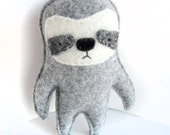 Grey Sloth - Recycled Wool Sweater Plush Toy