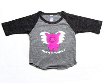 Flying Pig Raglan 3-6m to 18-24m