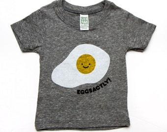 Eggsactly T-Shirt - Grey Organic Triblend