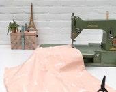 Souvernirs de Paris fabric vintage pink 140 gram