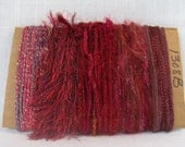 Scrap Yarn Art Bundle Red Silk Sari Yarn 1308