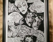 Poe, Tell Tale Heart,  7 of 10, original illustration, Dame Darcy , Pen and Ink , fine art, comix