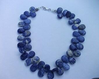 Tear-drop Gemstone necklace