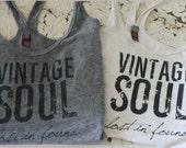 Vintage Soul Lost in Found Tank top, Vintage, Antique, Flea Market Tee, Tshirt