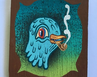 Blue Bird smoking