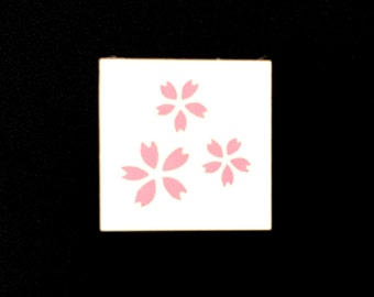 Cherry Blossom  Rubber Stamp - Rubber Stamp - Japanese Rubber Stamp - Traditional Japanese Stamp - Flower Rubber Stamp - Sakura