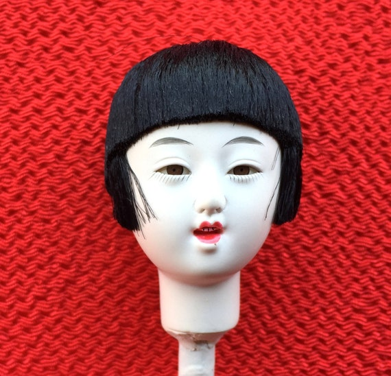 Japanese Doll Head Hina Matsuri Japanese Doll Festival Woman Head D11-22