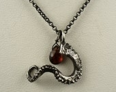 VDay SALE SALE - Holiday Special - Tentacle Garnet Pendant