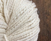 Cloud super 2 ply soft yarn 100 yards  chunky handspun rustic pure white 19.5 micron wool