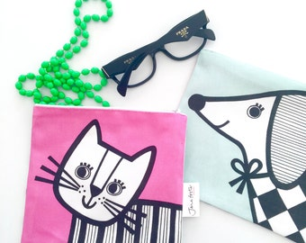 NEW cat / sausage dog purse / bag by Jane Foster