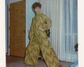 Vintage photo 1969 Color MS Vogue Fashion Jumpsuit Drape on Drape