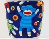 Coffee Cozy, Cup Sleeve, Eco Friendly, Slip-on: Sock Monkeys!