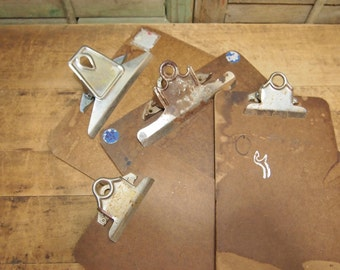 Vintage ClipBoard s Lot Lovely used patina  2 sizes small and average ClipBoards