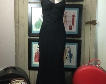 Sale 1990s dress silk dress bias cut dress 1930s style dress vintage dress size x small black dress maxu dress