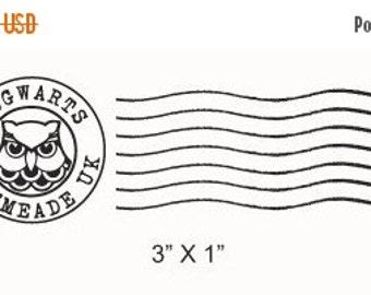 Clearance Hogwarts Postmark Rubber Stamp 215