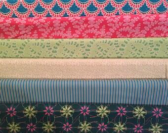 SALE - Terra Australis - By Ella Blue - Half Yard Set - 6 Prints - 24.00 Dollars