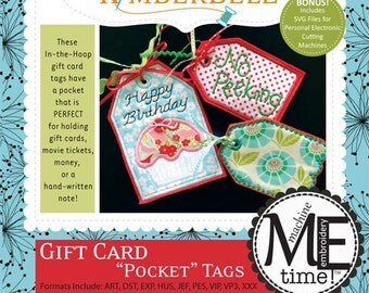 "Gift Card ""Pocket"" Tags - From Kimberbell - 8.95 Dollars"