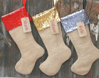 Christmas Stocking Christmas Stockings Set of Monogrammed Christmas Stockings Personalized Christmas Stocking
