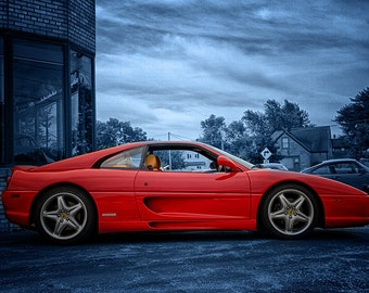 Ferrari F355 -  Automotive Art -  Home Decor