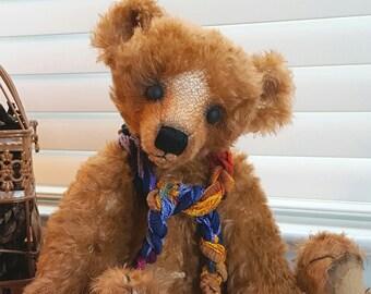 "ooak Mohair Teddy Bear 16"" Vintage-Well Loved Style"