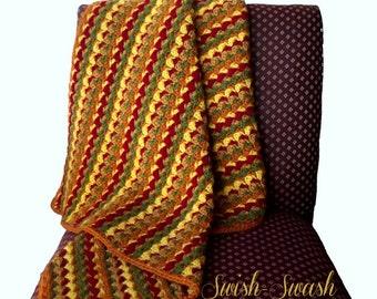 Swish-Swash Fall Baby Blanket ~ Crochet Pattern