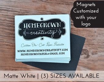 Custom Magnets with your Logo & Text - Personalized | Multiple Sizes