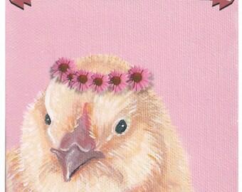 Spring Chicken blank card