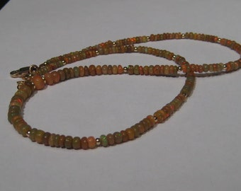Natural Ethiopian Opal  necklace................. Chocolate Opals.........      e864