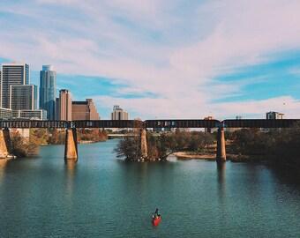 Kayak on Lady Bird Lake - Austin Texas Photograph