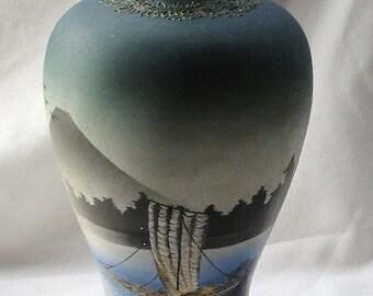Large Handpainted Nippon Vase