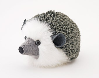 Stuffed Hedgehog Stuffed Animal Hemingway the Cute Plush Toy Grey Hedgehog Kawaii Plushie Fluffy Snuggly Faux Fur Toy Medium 5x8 Inches