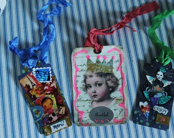 GifT Tags Collage  Lot for Three
