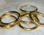 O Ring 1  inch Steel Welded Brass Plated Pk of 2