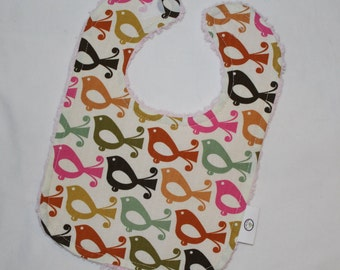 Lovely Birdies Chenille Bib