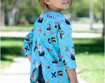 Child Top PDF Sewing Pattern, The Reislust Top Sized 2 to 12y