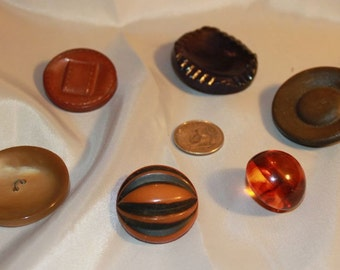 assortment of large single buttons, knitters, crocheters